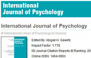 期刊International Journal of Psychology投稿实战